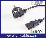 Europeu Cord Power & Plug Power para PC Usando