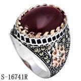 Nuovo anello dell'uomo dell'argento sterlina di arrivo 925 con due colori placcati