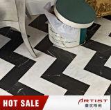 Abgezogener schwarzer Leuchtmarker-Marmor geprophezeiter Keramikziegel oder Küche