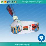 Flausch-kundenspezifischer Gewebe-Polyester-TextilWristband