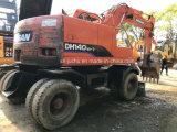 Excavador usado de la rueda de Doosan Dh140W-7