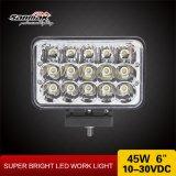 15 luz de conducción sellada viga de la linterna LED del LED Hi/Low
