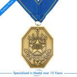 Médaille faite sur commande de récompense de sport du football du football de souvenir avec la bande