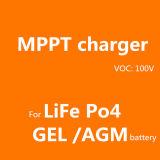 # Fangpusun 12V 24V 배터리 충전기를 위한 파란 주황색 까만 케이스 LCD 디스플레이 MPPT 50A 태양 관제사