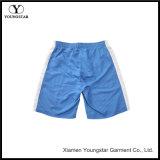 Shorts blu della scheda della spiaggia dell'acqua bianca dei circuiti di collegamento di nuotata degli uomini