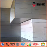 El panel 2016 de pared compuesto de aluminio metálico de Ideabond del nuevo diseño