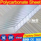 Folha oco de policarbonato de costelas para várias estufas