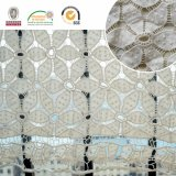 Tissu chimique neuf de lacet de la fleur 3D de configuration pour le matériau de robe