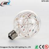 Bulbo decorativo colorido de la patente de la luz LED del globo de la cadena del alambre de cobre