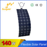 Vendita diretta della fabbrica un comitato solare flessibile flessibile 140W dei comitati solari del grado