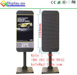 Telefone móvel que anuncia a tela de indicador do diodo emissor de luz
