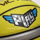 Preiswerter massiver Panel-Spiel-Basketball des Gelb-12