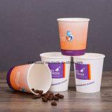 taza de papel disponible de consumición caliente 6oz con las tapas