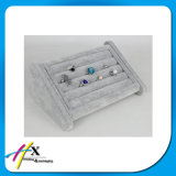 Étalage de luxe de stand de support de velours de caisse de bijou de bracelet de boucle de mode