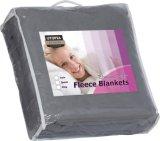 Graue Farben-Ausgangstextilbettwäsche-Vlies-Zudecke