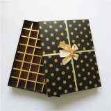 OEM het Stijve Vakje van de Chocolade van de Verpakking van de Gift van het Karton van het Document met Lint