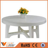 New Fashion Round Plastic Outdoor Garden Furniture Pátio Mesa