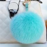 Pelz-Kugel-Schlüsselkette/PelzPompom für Hüte/realen Fox-Pelz POM Poms