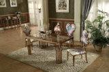 De luxe nam de Gouden Marmeren Bovenkant van het Ontwerp van de Eettafel van het Roestvrij staal toe