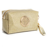 El cosmético de lino del yute del producto de la fábrica compone el bolso