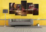 HD напечатало обычные стекла красного вина крася на холстине Mc-005 изображения плаката печати украшения комнаты холстины