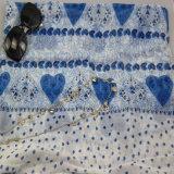 Sciarpa calda del poliestere di stampa di vendita con il punto di figura del cuore, scialle dell'accessorio di modo