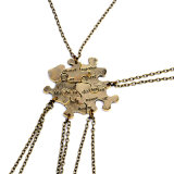 型の金属5ディスク困惑のBffの困惑の吊り下げ式のネックレスの親友の永久に友情の宝石類