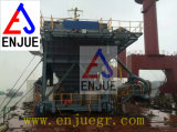 Funil Rail-Mounted da doca com o funil da unidade de controle da poeira para descarregar a carga de maioria
