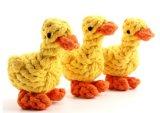 개 면 밧줄 오리 장난감에 의하여 매듭을 짓는 씹기 애완 동물 밧줄 장난감