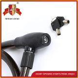 Schwarzes Qualitäts-Fahrrad-Verschluss-Motorrad-Stahlkabel-Verschluss der Farben-Jq8221