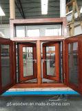 Finestra di alluminio del grano di legno di alta qualità del fornitore di Foshan con lo schermo della zanzara
