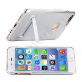 Het elegante Plastic Geval van het Draadtrekken met Houder voor iPhone 7