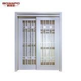 백색 페인트 목제 프레임 유리 미닫이 문 (GSP3-031)