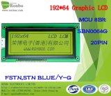 écran LCD graphique de 192X64 MCU, Sbn0064G, 20pin, pour la position, sonnette, médicale, véhicules