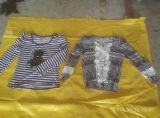 Verkauf für heißen Verkauf verwendeten London-Dame-im langen Hülsen-T-Shirt kleidet Jersey-Art