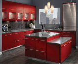 Armadi da cucina personalizzati moderni della lacca di lucentezza della mobilia della cucina alti