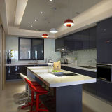 Parte superiore di pietra acrilica prefabbricata di vanità del controsoffitto della cucina di disegno moderno