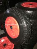 편평한 자유로운 PU 거품 바퀴/거품에 의하여 채워지는 바퀴