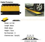 Поднос кабеля 3 каналов резиновый для дороги