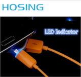 O cabo de 2017 dados colorido o mais novo do USB com luz do diodo emissor de luz para o telefone móvel universal