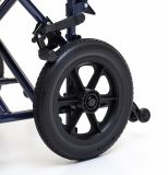 Bracciolo registrabile di altezza, presidenza manuale d'acciaio piegante di transito della sedia a rotelle (YJ-028B)