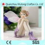 Figurine feericamente do anjo de Polyresin da decoração Home por atacado mini