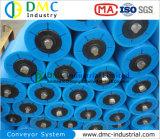 rodillos azules del transportador de la rueda loca del transportador del HDPE del sistema de transportador del diámetro de 139m m