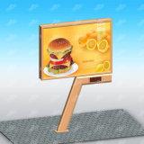 表示装置LEDの掲示板の価格を広告する屋外の表示によってバックライトを当てられるスクローリング