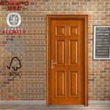 Porte de panneau en bois simple simple d'entrée principale (GSP2-046)