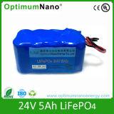 bateria do Li-Polímero 24V 5ah LiFePO4 do Li-íon