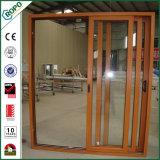 Portello scorrevole di legno interno standard australiano di vetratura doppia per il Baloney