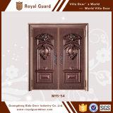 A porta principal da casa projeta a porta de entrada dianteira de cobre da segurança feita em China