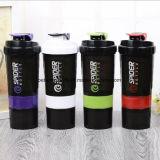 перемещение напольных спортов 600ml задействуя ясный трасучку протеина бутылки воды пластичный с 3 слоями