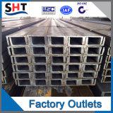 Canal U de acero galvanizado suave laminado en caliente